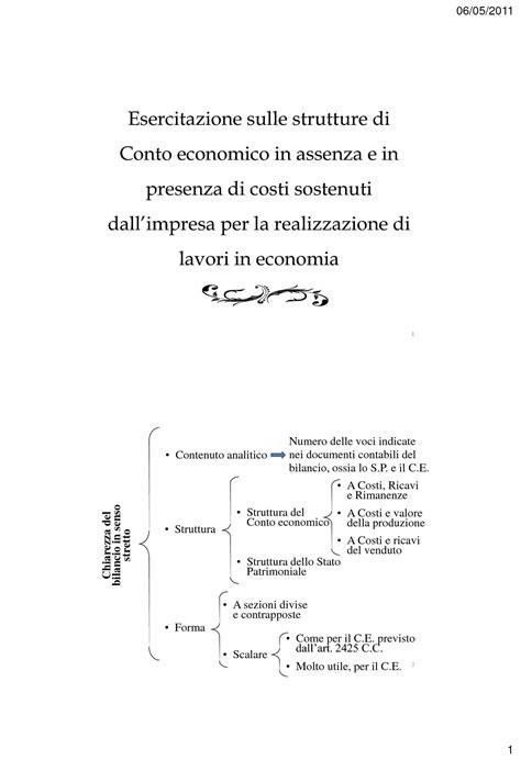ragioneria dispense strutture di conto economico dispense