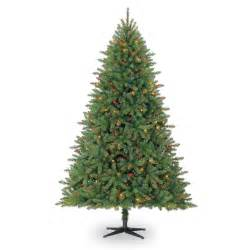 7 5 ft pre lit hartford pine artificial christmas tree multicolor lights by celebrate it