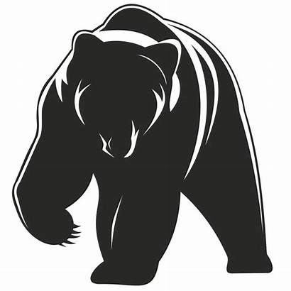 Bear Silhouette Clipart Cub Paw Grizzly Vector