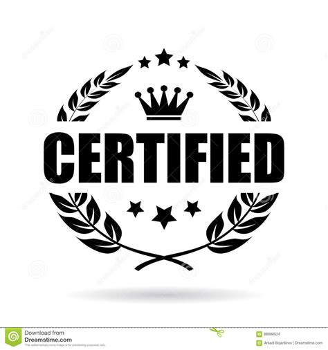 Certified Background Certified Vector Icon Stock Vector Image 88980524