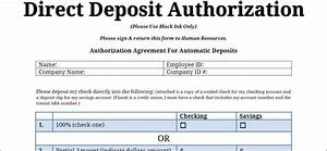 printable pdf direct deposit authorization form With documents netspend