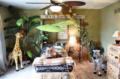 deco jungle chambre jungle themed bedroom hometalk