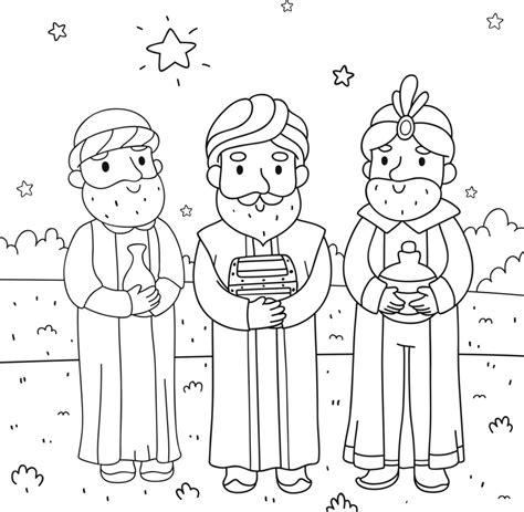 disegni re da colorare disegni dei re magi da colorare unadonna