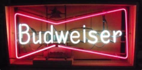 budweiser red light for sale budweiser bowtie 3 ft neon beer bar sign light no ship