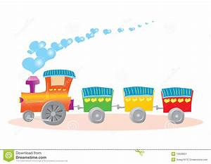 Illustration Of Toy Train With Hearts Stock Image - Image ...