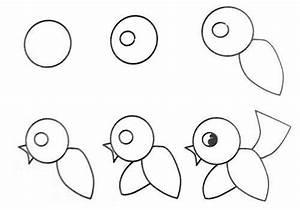 Een Cartoon Vogel Tekenen. – lerentekenenblog
