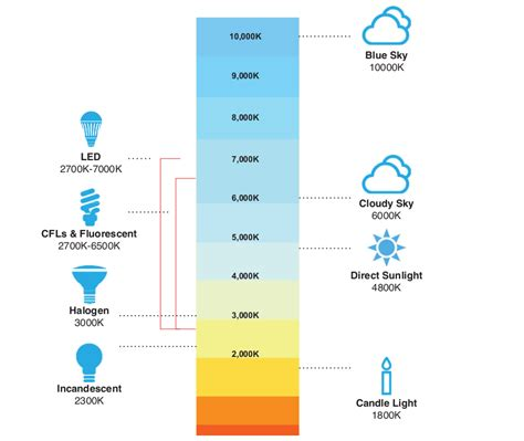 color temp chart color temperature commercialbulbs
