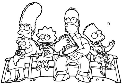 Homer Kleurplaat by The Simpsons Coloring Pages Simpsons Family Coloring