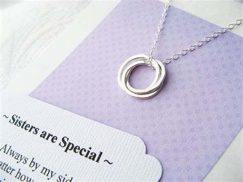 Inseparable Rings 3 necklace with poem inseparable rings for three