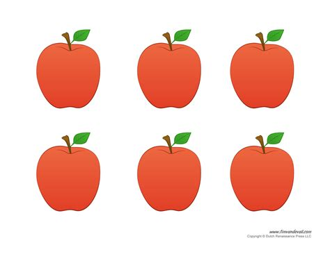 printable apple templates to make apple crafts for preschool 945 | apple crafts for preschool 1