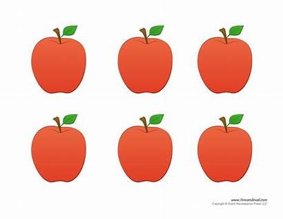 Apple Preschool Printable Template Templates Crafts Printables