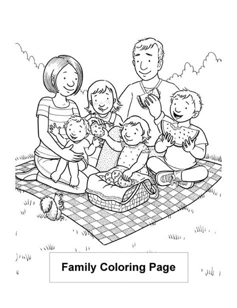 lovely vacation   family coloring page coloring sky