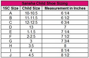 Sansha Size Chart Dancewear Sansha Child Quot Star Split Quot Canvas Split Sole Ballet Slipper
