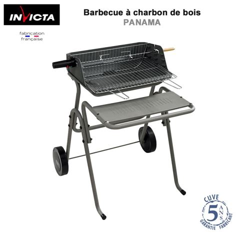 barbecue a bois en fonte barbecue 224 charbon de bois en fonte panama 815 invicta