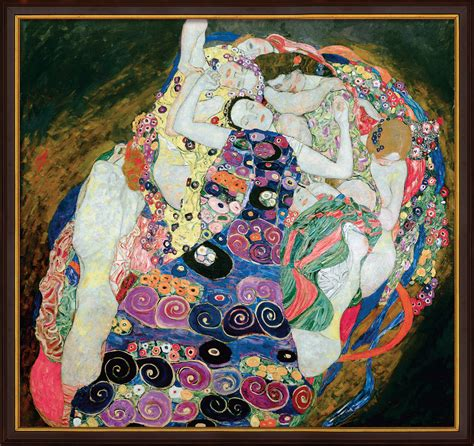 Klimt La by Painting Quot The Virgins Quot Framed Gustav Klimt