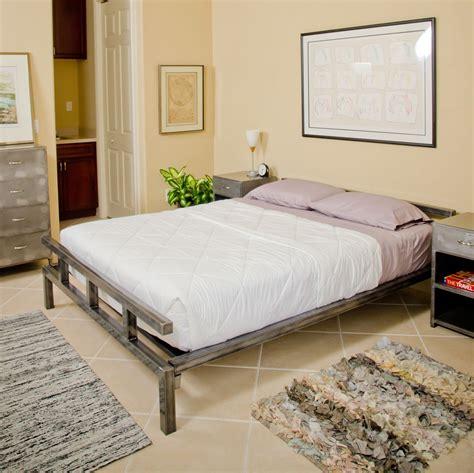 Steel Bed Frame by Platform Bed Low Profile Steel Bed Frame Boltz Steel