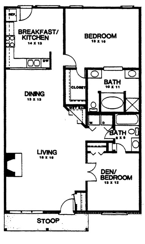 2 bedroom house plans two bedroom house plans home plans homepw03155 1 350
