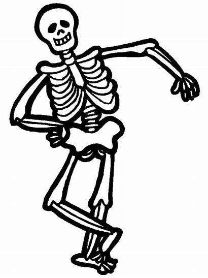 Skeleton Coloring Printable Pages Clipart Clipartbest Bones
