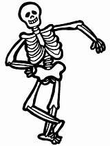 Skeleton Coloring Pages Printable Halloween Bones Sheet Scary Funny Clip Children Esqueleto Skeletal sketch template