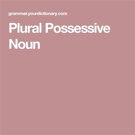 plural possessive noun  images plural possessive