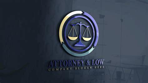 Free Photoshop Attorney & Law Logo Design Template ...