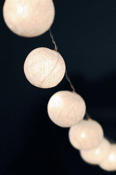 white cotton string lights 20 ct 8 ft