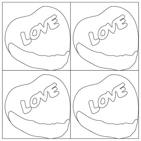 pop art candy heart coloring