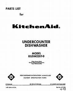Kitchenaid Kudm220t0 Timer