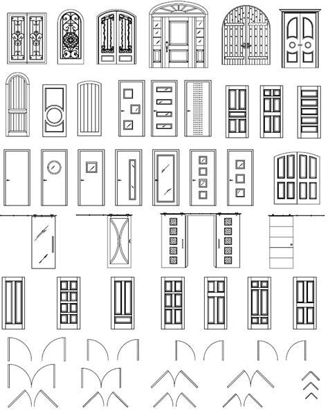 AutoCAD Doors Blocks Library - Exterior Door AutoCAD