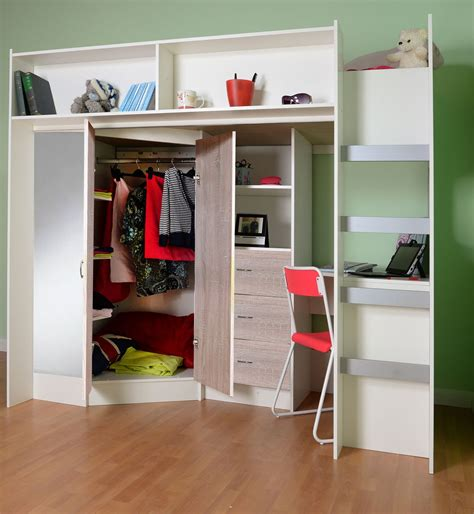 Low Loft Bed With Desk And Storage by Stamford High Sleeper Cabin Bed