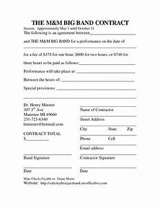 7 band contract template timeline template With music performance contract template