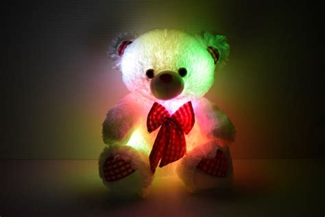 led light  bow tie teddy bear eternity led