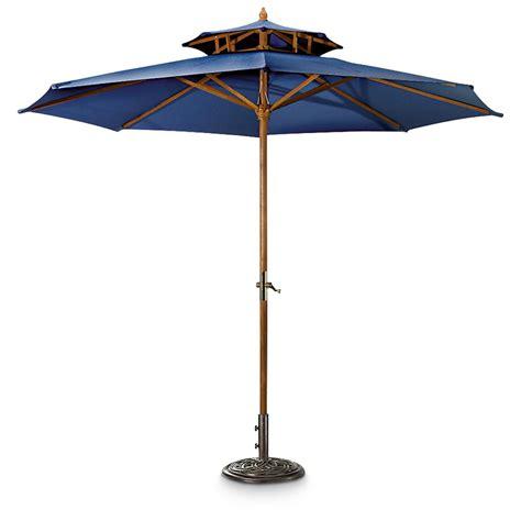 navy blue patio umbrella 10 foot castlecreek 10 two tier market patio umbrella 234562