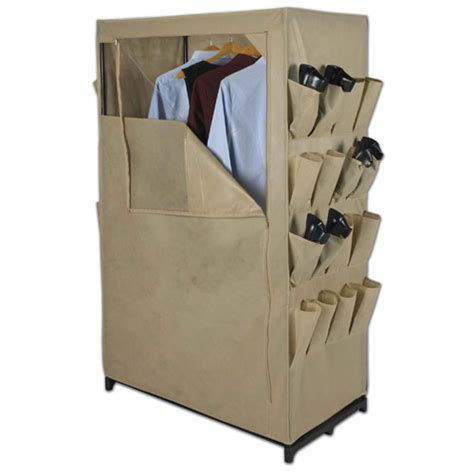standing closet rack free standing closet with shoe pockets in