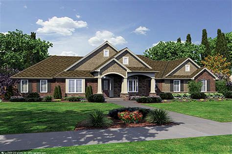 craftsmanranch house plans home design hunters ridge