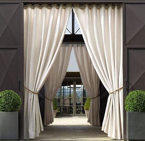 Outdoor Drapes by Sunbrella 174 Drapery Outdoor Patio Area On Each Side Of