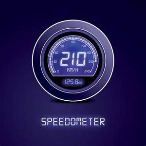 Digital speedometer Vector | Free Download