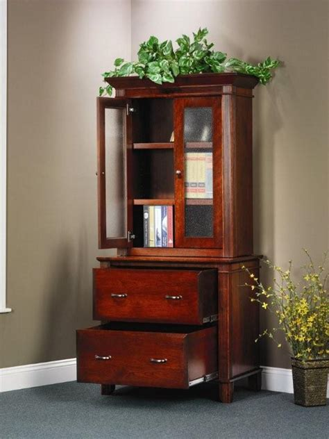 Lateral File Bookcase by Amish Arlington Executive Lateral File Cabinet With Hutch