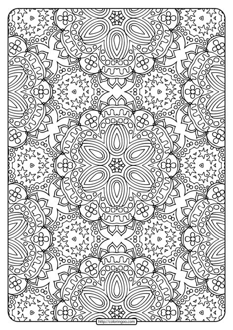 printable abstract pattern adult coloring pages