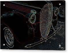Vintage Ford Neon Art Grill graph by Lesa Fine