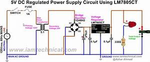Regulated Dc Power Supply Circuit Using Bridge Rectifier