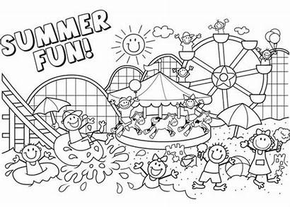 Coloring Summer Pages Break Printable