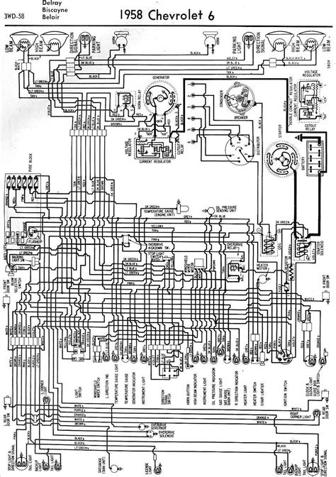 1958 Oldsmobile Ignition Switch Wiring Diagram by 1958 Chevrolet Wiring Diagrams 1958 Classic Chevrolet
