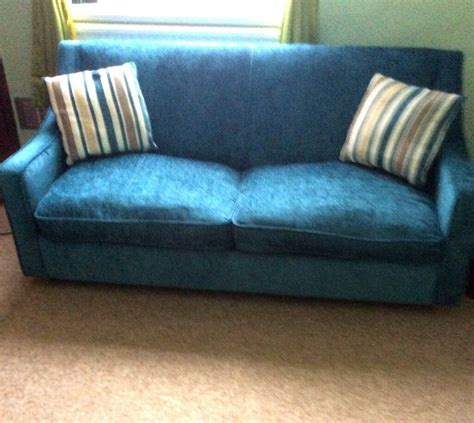 Dfs 3 Seater Sofa Bed by Dfs 3 Seater Blue Sofa Bed Excellent Condition