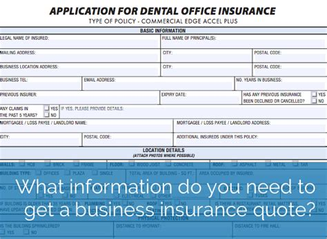 business insurance quotes what information do you need to get a business insurance