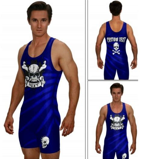 powerlifting singlet skull and crossbones includes