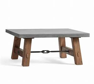 abbott concrete top square coffee table pottery barn With concrete coffee table and end tables