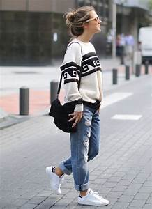 23 Ways to Wear a Pair of White Sneakers - Pretty Designs