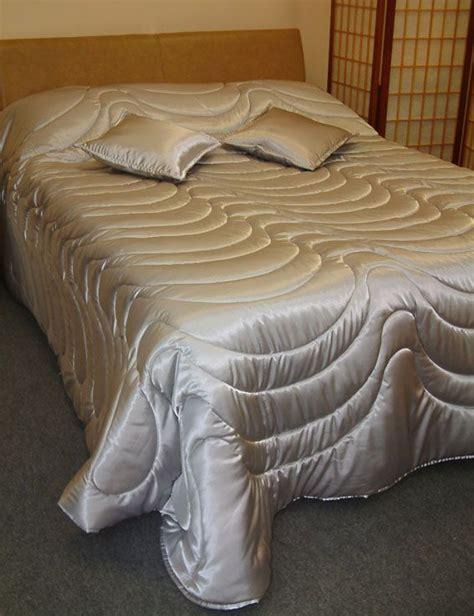 Silver Satin Comforter In A Countess Design Satin Sheets