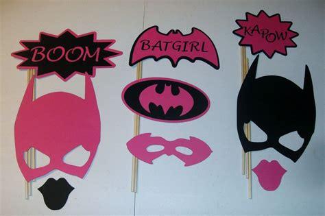 Diy 9 Photo Booth Props Batgirl Boom Pink And Black